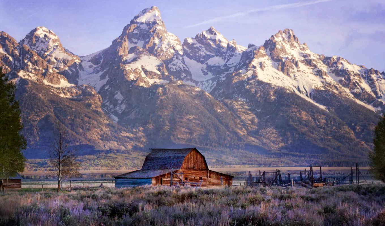 priroda, park, teton, grand, горы, пейзаж, dom, национальный, national,