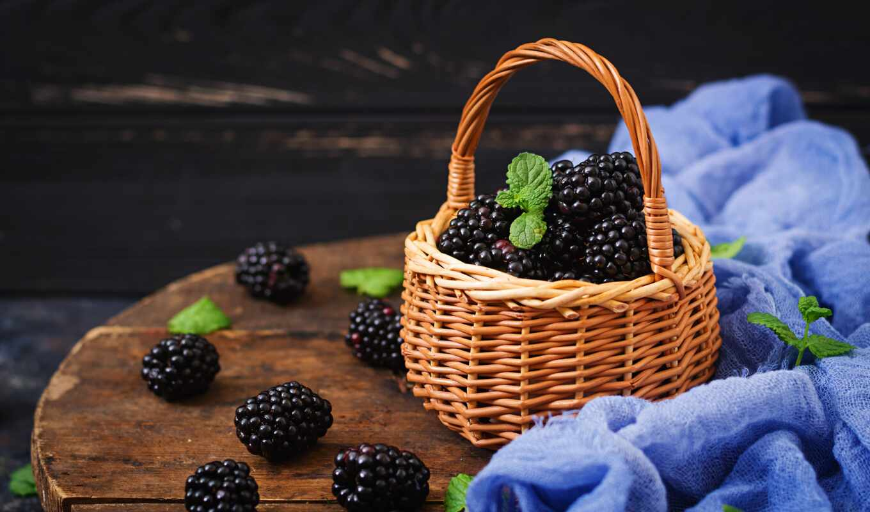 корзина, blackberry, meal, skinat, плод, medium, wood, фартук, ягода