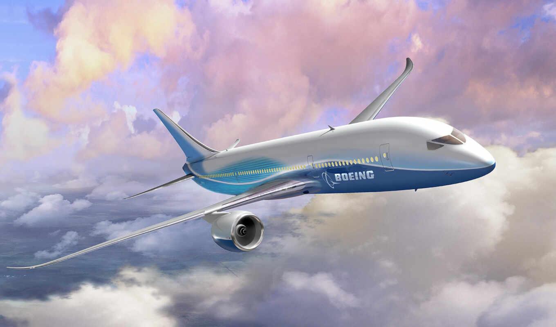 boeing, dreamliner, самолет, небо, боинг, wallpaper, облака, wallpapers, hd, картинка, art, авиабилеты,