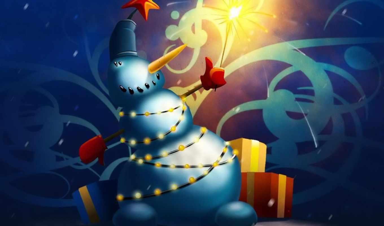 christmas, snowman, download, year, free, new, downloads, desktop, netbook, cute, праздники, xmas,