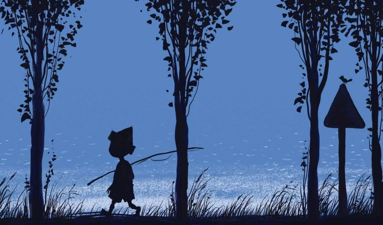 река, синева, удочка, мальчик, трава, картинка, смотрите,
