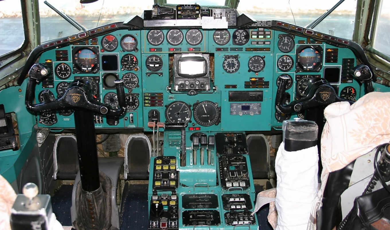 кабина,самолет,  штурвал,