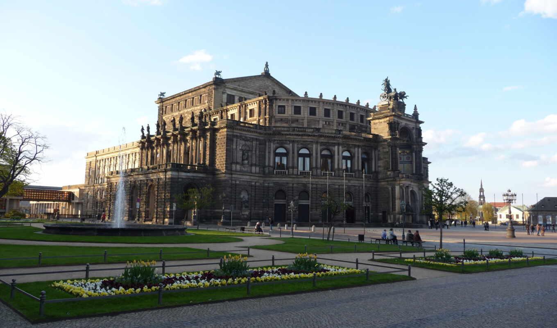 dresden, ipad, semperoper, германия, buildings, театр,