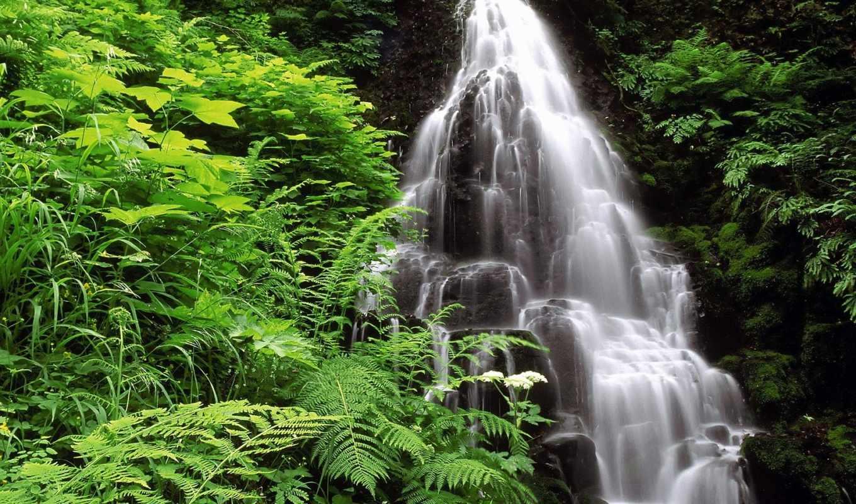 водопад, waterfalls, природа, пейзажи, white, стандартные, столик, landscape, водопадов, каскад, морские,