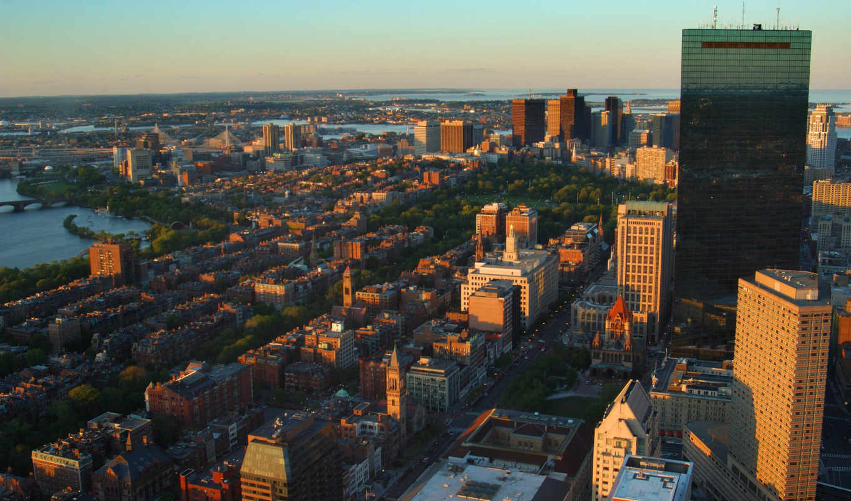 город, boston, usa, массачусетс,