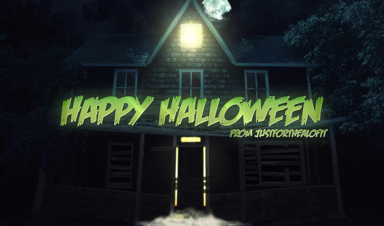 ночь, праздник, halloween, картинка, mysticism, art, вектор, луна,
