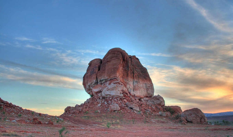 закат, каньон, скалы, горы, картинку, картинка,