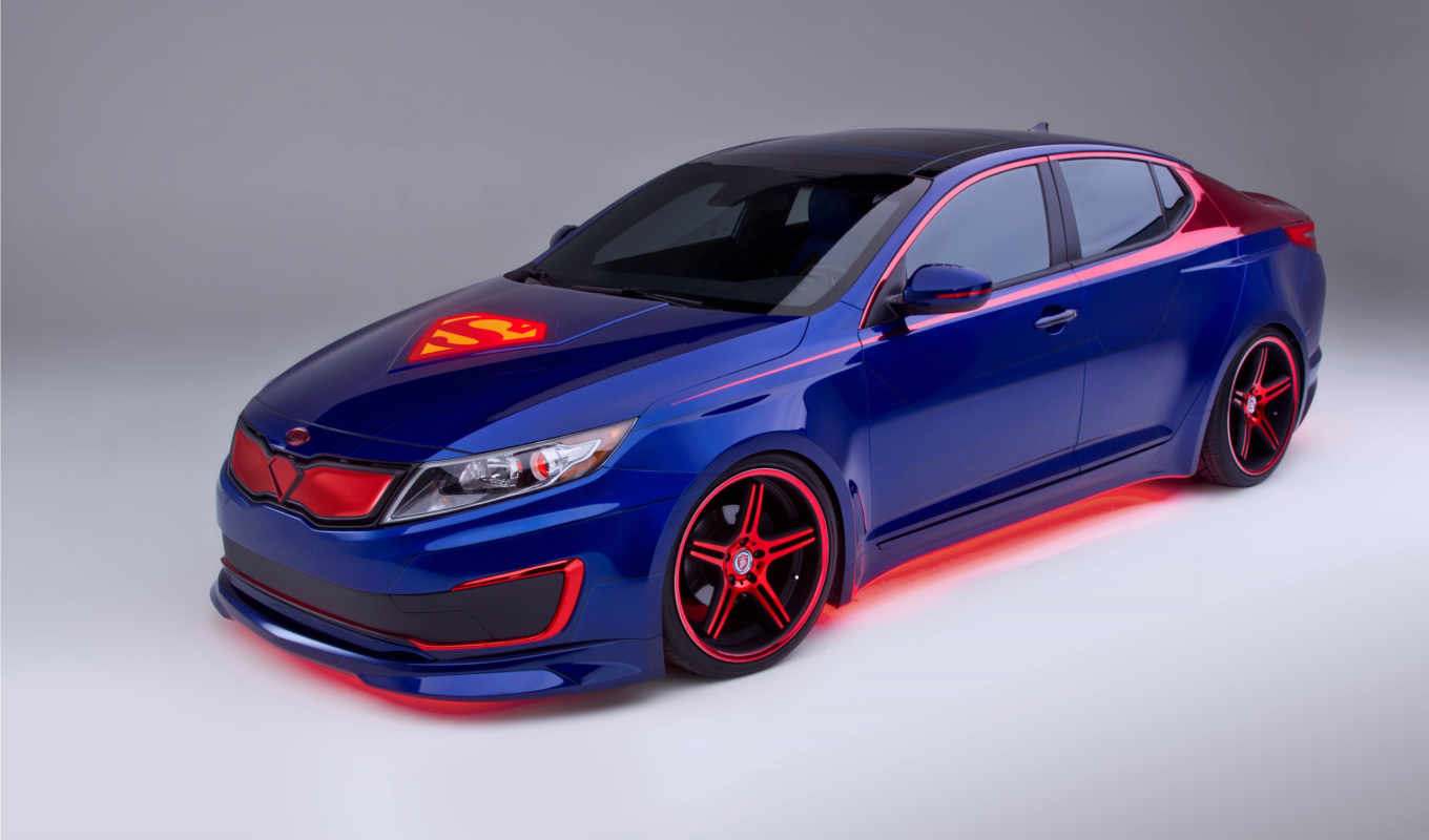 kia, optima, hybrid, superman,