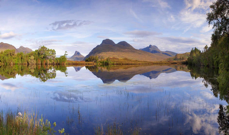 ecosse, небо, voyage, шотландия, качественные, sun,