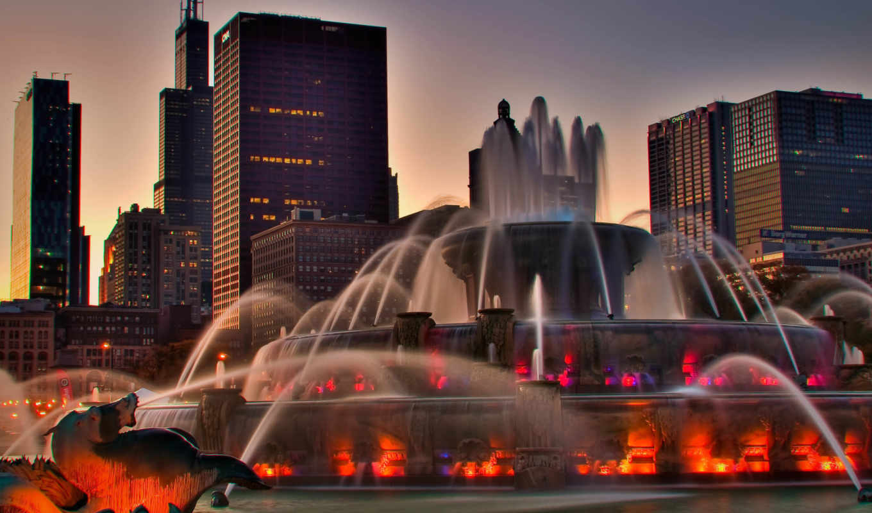 город, veliki, міста, fountain,