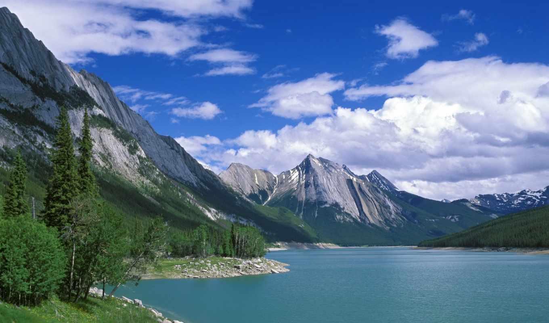 горы, water, озеро, природа, trees, landscape, лекарство, небо, лес, park,