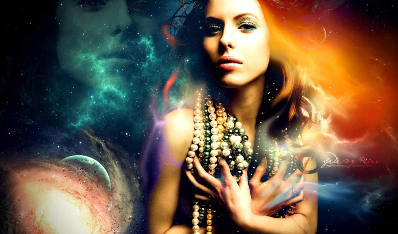 девушка, cosmos, бусы, космос, covers, facebook, fbcoverlover, remix, ворон,