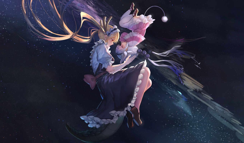 kobayashi, дракон, горничная, san, чи, anime, скучать,