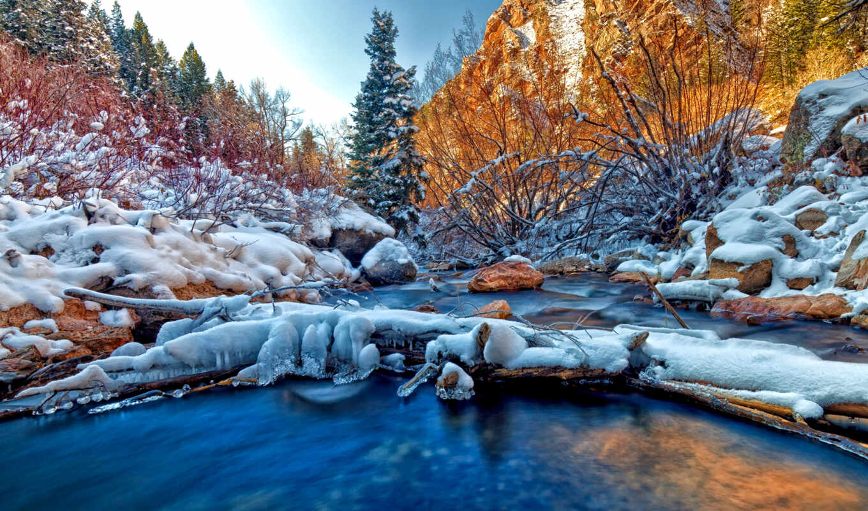 winter, снег, tapety, природа, pulpit, zima, есть, рассвет