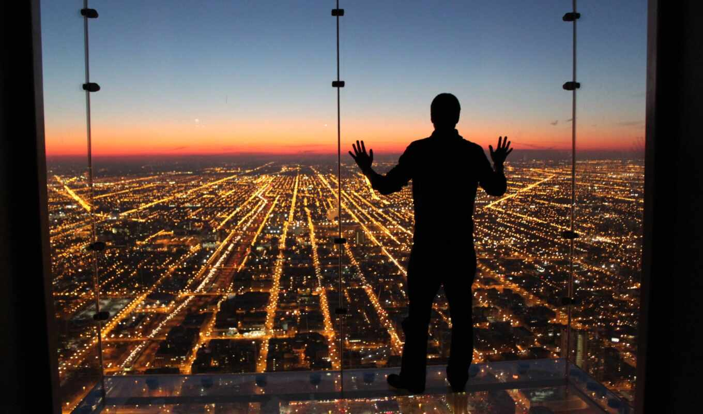 chicago, одиночка, skydeck, башня, биг, сша, ford