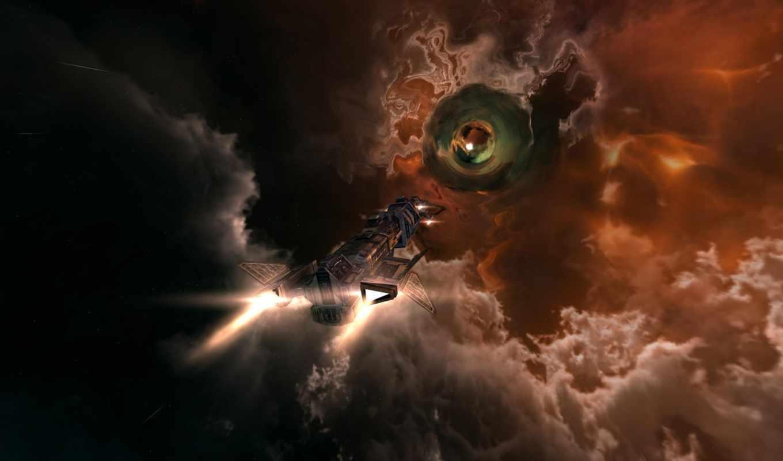 корабль, полёт, дыра, wallpaper, тунель, пространство, взлетающий, космический, space, космос,