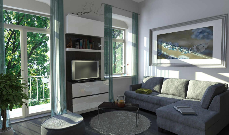 интерьер, комната, design, уровень,