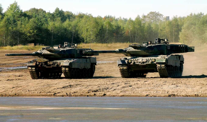 танки, леопард, полигон, немецкие, учения, танк,