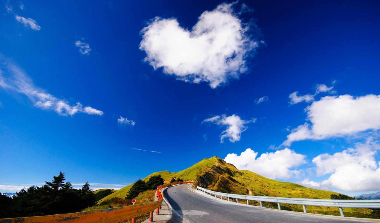 oblaka, облако, небо, сердца, сердце, природа,