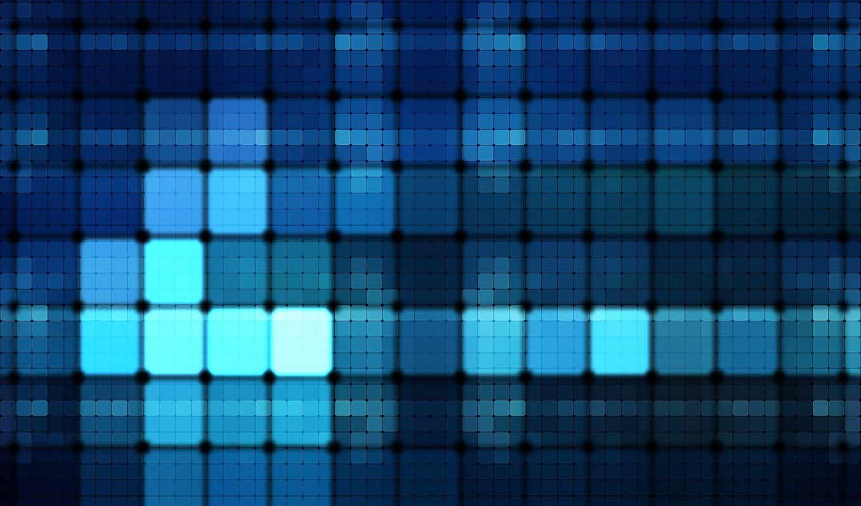 , квадраты, голубой, фон,