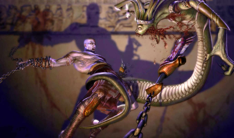 medusa, war, god, game, seu, горгона, kratos, não,