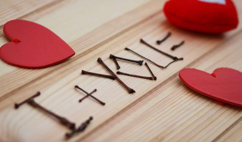 любовь, сердце, плюшевый, древесина