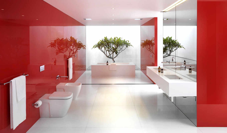 ванная, design, ideas, red, интерьер, квартиры, интерьере, об,