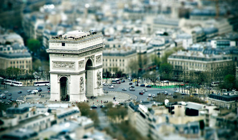 арка, триумфальная, париж,