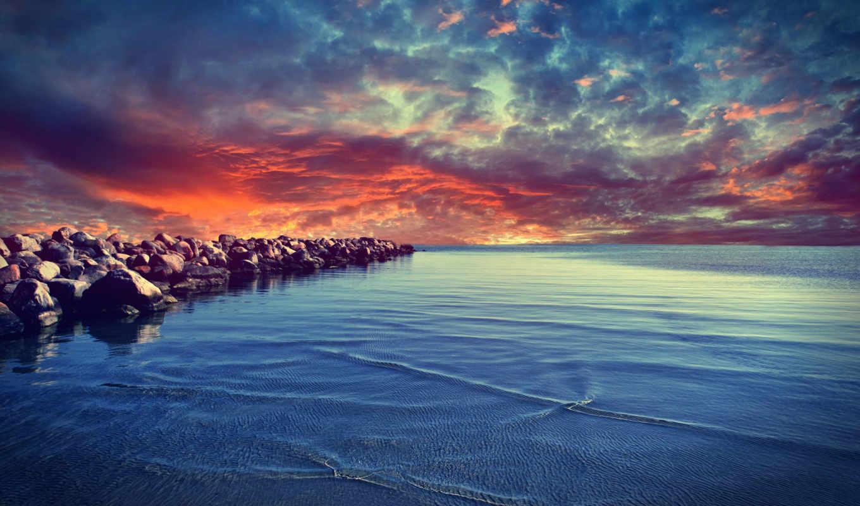 море,, природа,, океаны, моря,,, небо,