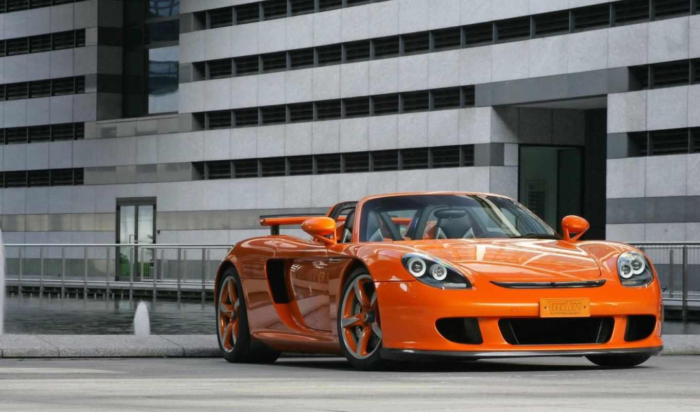 оранжевая, машины,