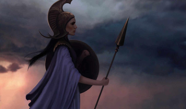 mythology, greek, female, warriors, athena,