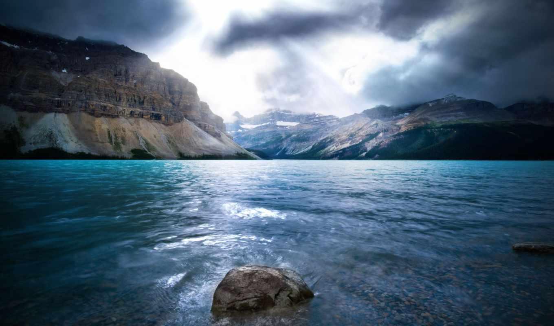 река, камни, landscape, берег, камень, water, природа, трава, скалы, море, горы,