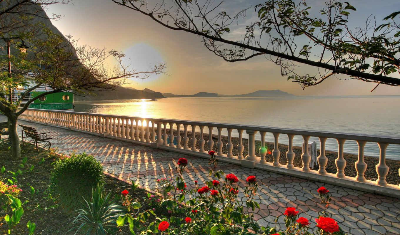 природа, sun, небо, море, природы, oblaka, побережье, неповторимыми, видами, пляж, красивые,