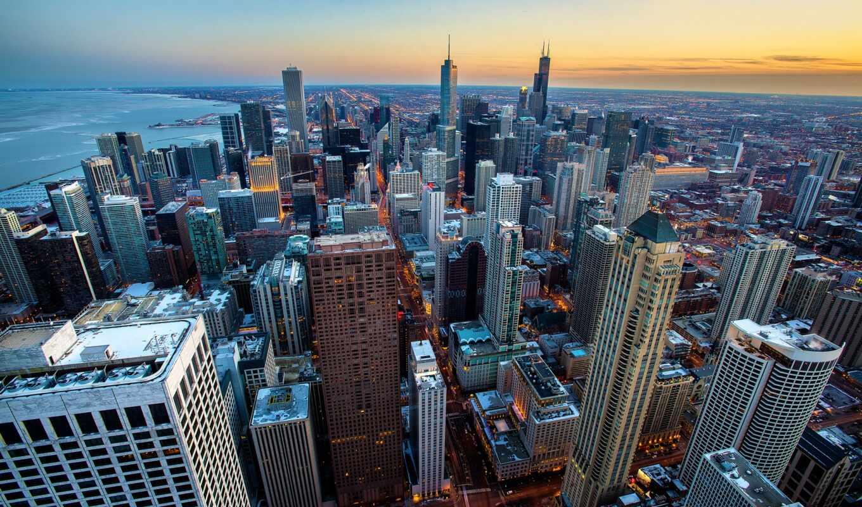 chicago, building, город, skyline