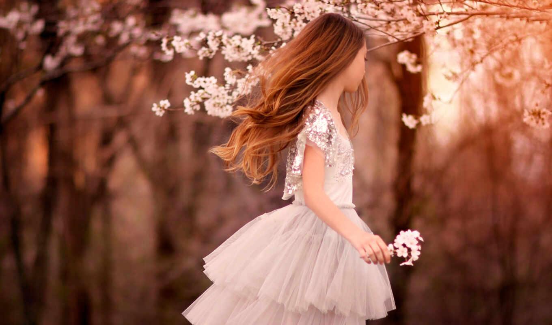 весна, молодой, скучать, april, ребенок
