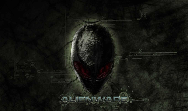 alienware, чужие, пришельца, голова, логотип, инопланетянин,