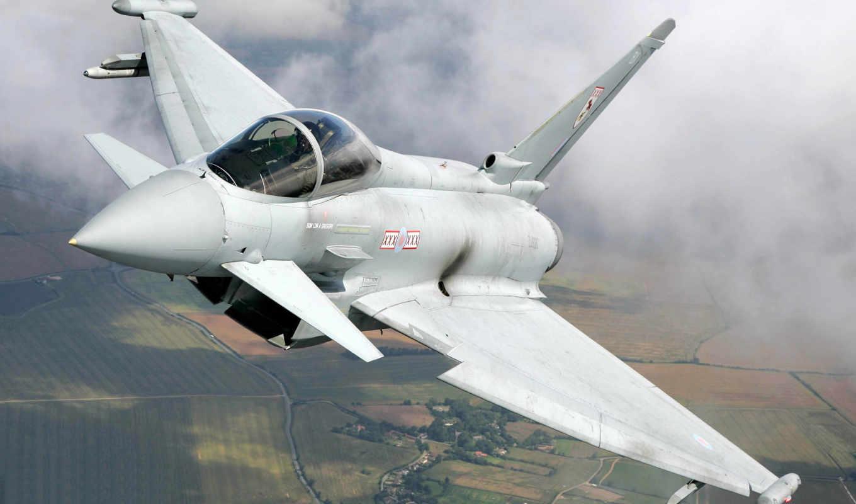облака, aircraft, истребитель, military, download, eurofighter,