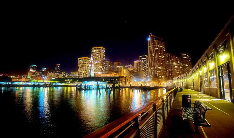 город, ночь, панорама, preview, испания,
