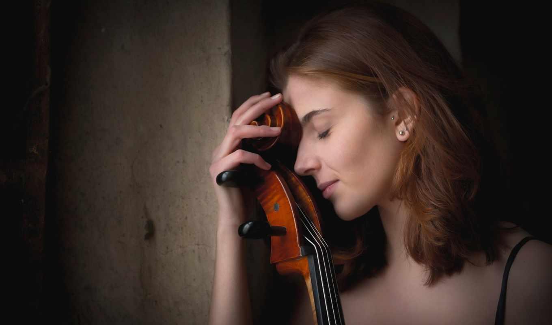 девушка, виолончель,