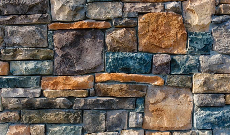 камень, укладка, стена, brick, под