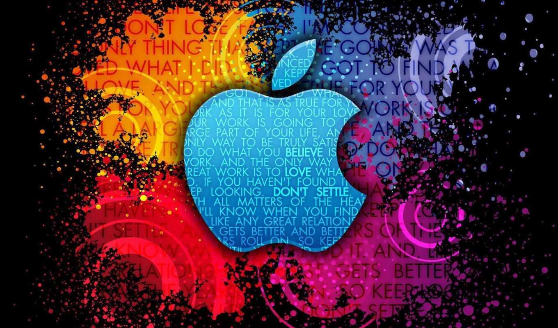 apple, new, logo, free, краска, kartinika