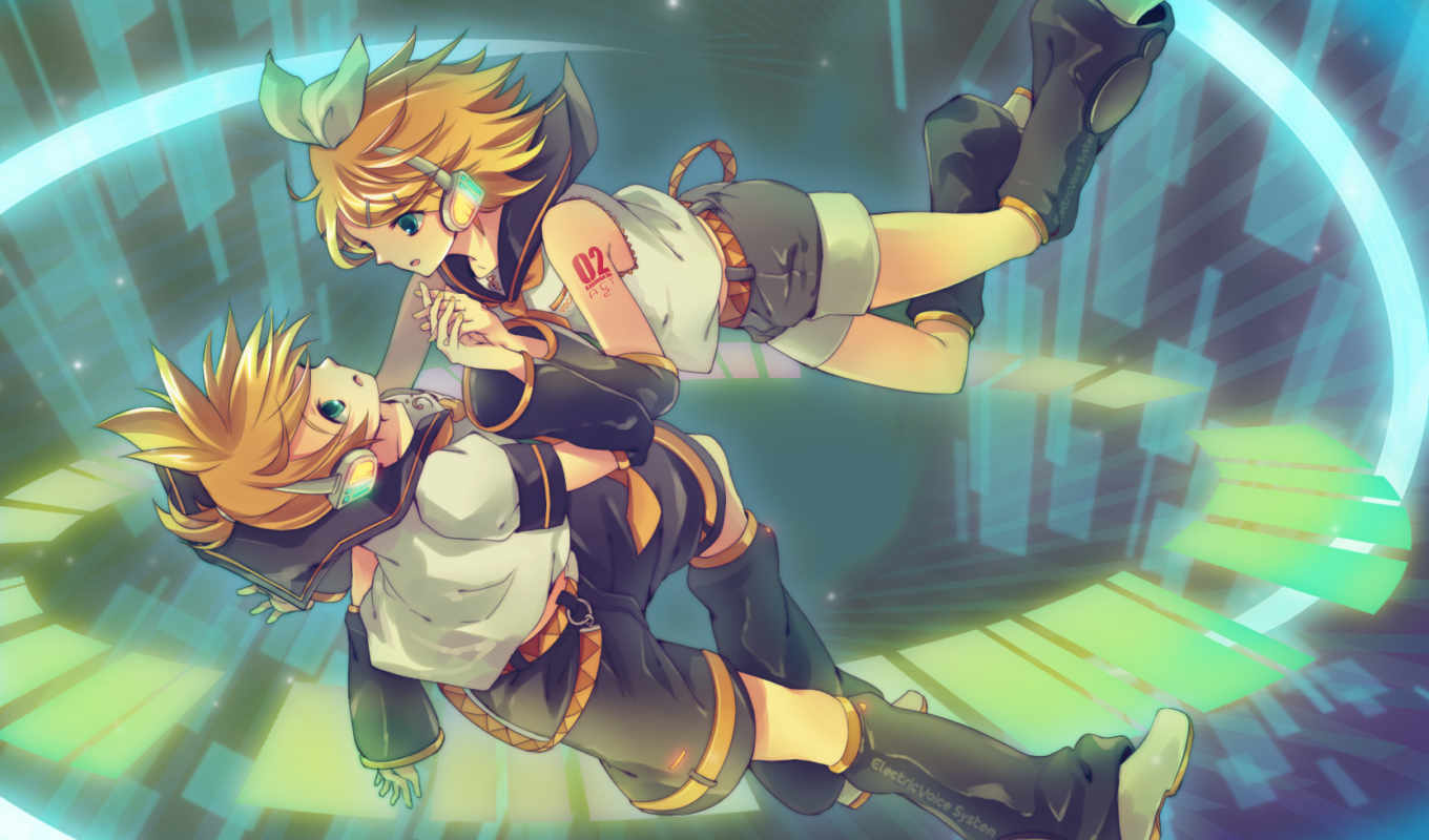 kagamine, vocaloid, rin, twins, lên, sleeves, detached,