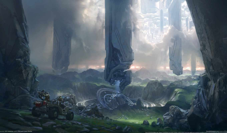 halo, forerunner, planet, арты, art, concept,