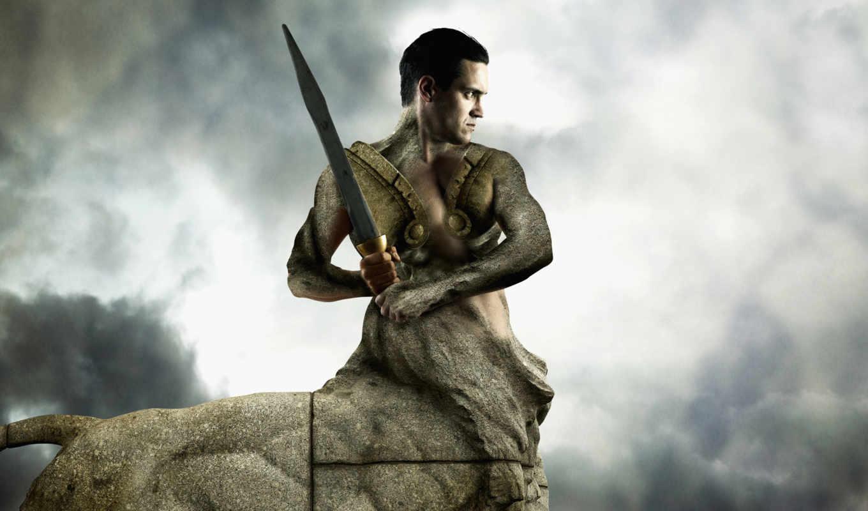 centaur, девушка, засо, камень,
