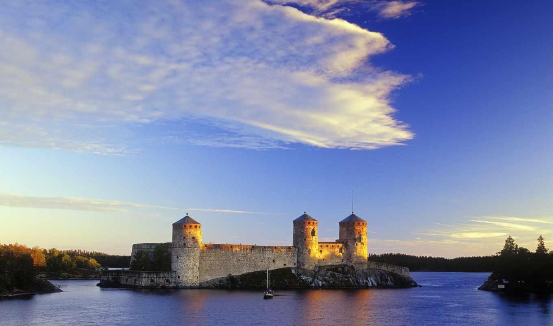 финляндия, cut, оригинал, castle, european