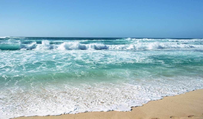 море, волны, пляж, песок, лето, небо, hawaii, climate, картинка, часть, blue, download, ron,