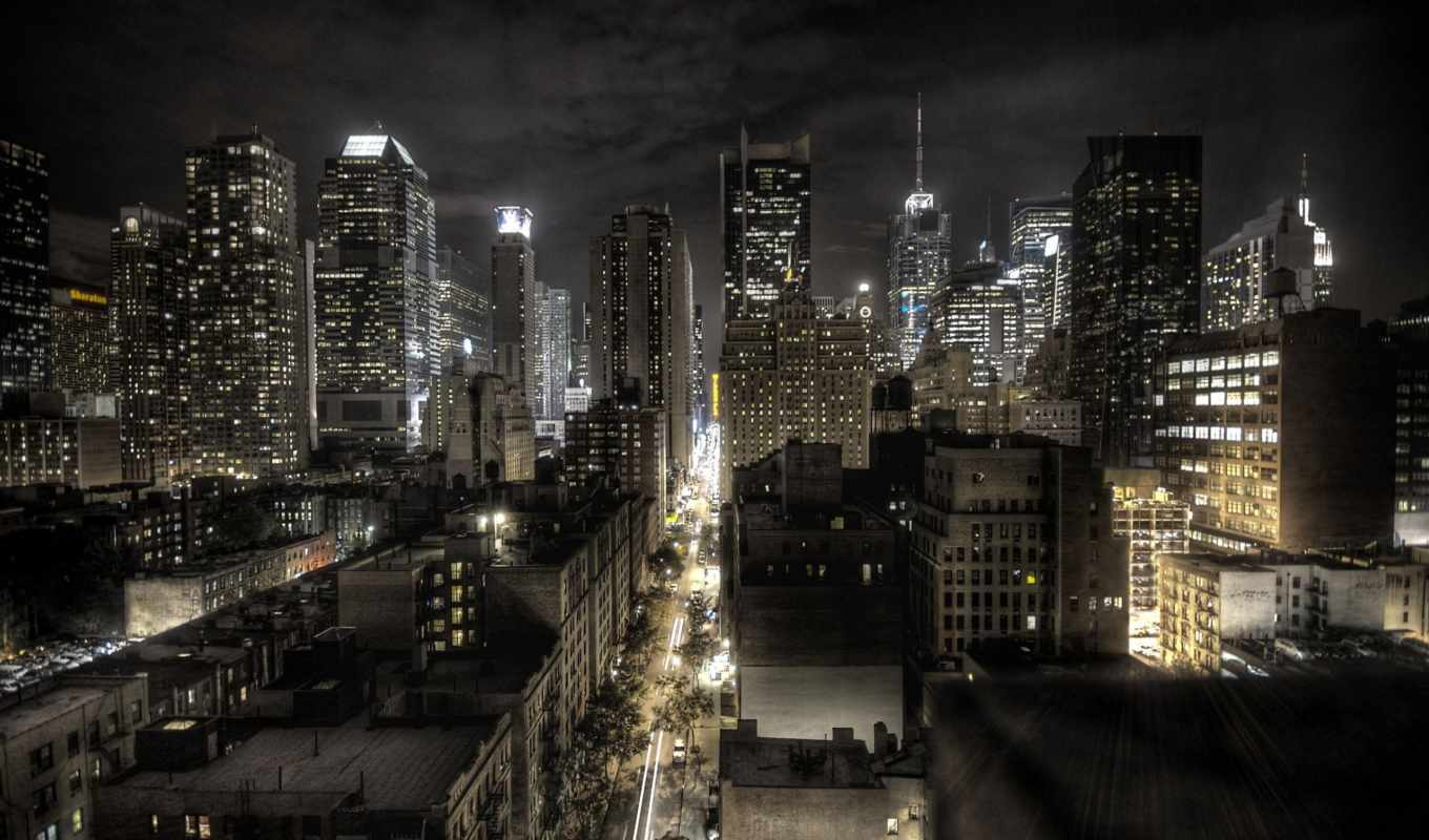 город, new, york, night, картинка, photos,