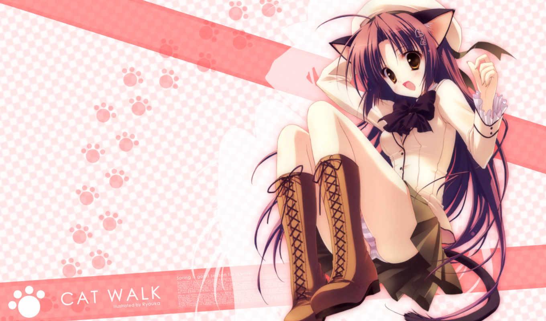 арты, неко, sakura, член, ryohka, пользователь, zerochan, аниме,