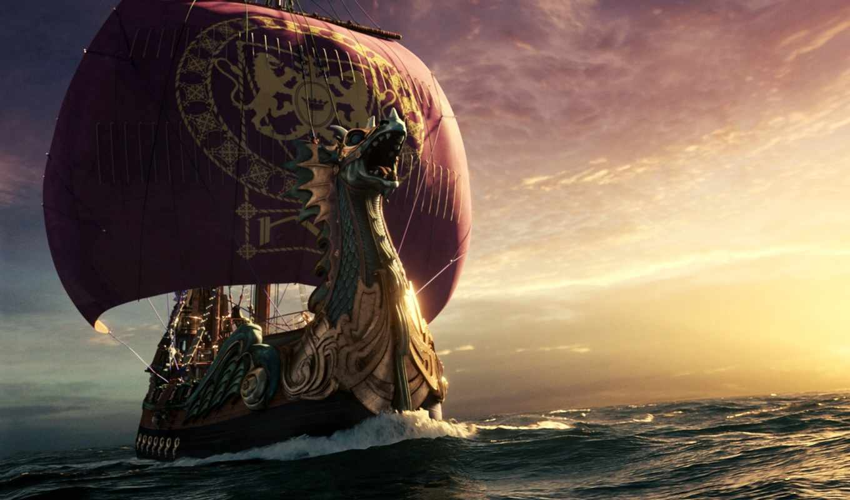 корабль, парусник, море, изображение,