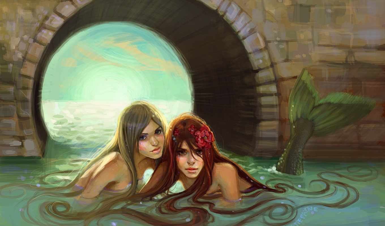 русалка, fantasy, mermaids, pinterest, об, art, top,